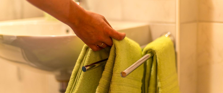 Handtücher liegen für Sie bereit