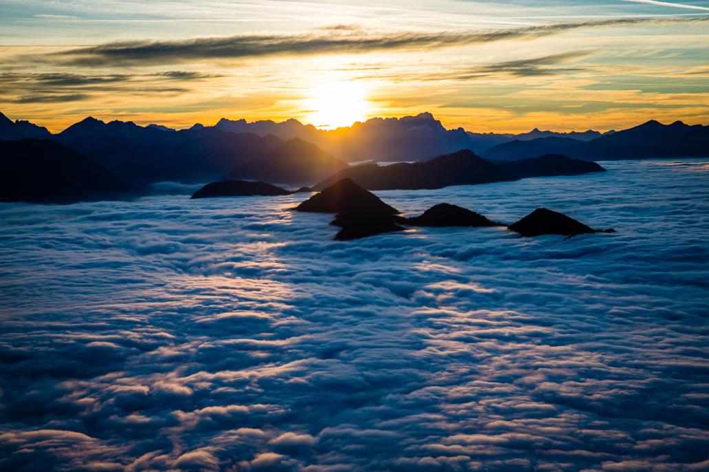 Wolkenmeer im Karwendel